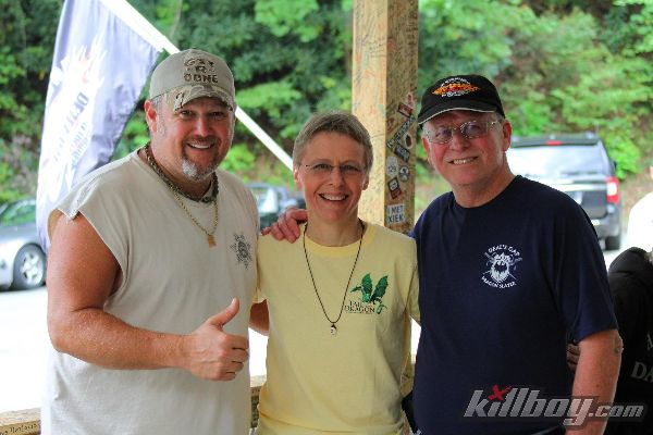 "Ron & Nancy with Larry the Cable Guy, during the filming of ""Only in America"" summer of 2013."